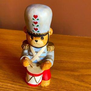 Collectible porcelain drummer teddy bear